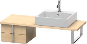 Vero Low Cabinet For Console Compact, Mediterranean Oak (real Wood Veneer)