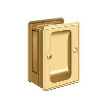 "HD Pocket Lock, Adjustable, 3 1/4""x 2 1/4"" Passage - PVD Polished Brass"