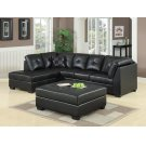 Darie Contemporary Black Sectional Product Image