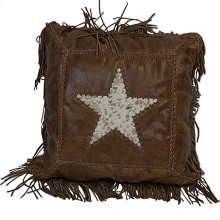 Leather Pillow W/Star