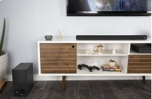 Universal TV Sound Bar and Wireless Subwoofer System in Black