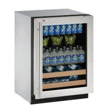 "2000 Series 24"" Beverage Center With Stainless Frame (lock) Finish and Right-hand Hinged Door Swing"