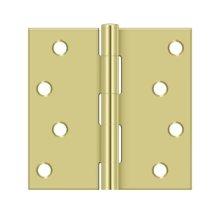 "4""x 4"" Square Hinge - Polished Brass"