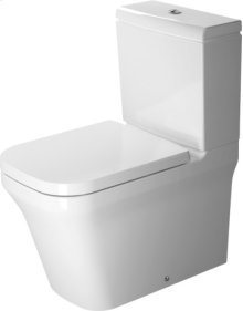 White P3 Comforts Toilet Close-coupled Duravit Rimless®