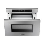 """Dacor Heritage 24"""" Microwave-In-A-Drawer, Silver Stainless Steel"""