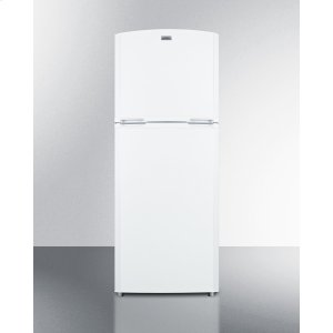 "SummitCounter Depth Frost-free Refrigerator-freezer In White With A 26"" Footprint and Reversible Doors"