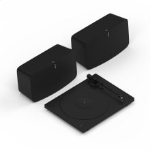 Black- Give your record collection the stereo sound it deserves. Stream music, too.