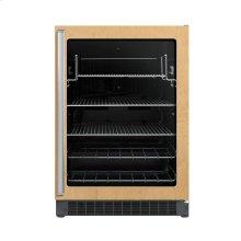 "24"" Custom Panel Beverage Center - DFUR (Right Hinge Clear Door, Black interior)"