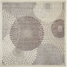 Graphic Illusions Gil04 Gry Square Rug 6'7'' X 6'7''