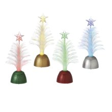 Lighted LED Fiber Optic Tree Mini Shimmer (4 asstd).