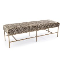 Fontanne Gold Upholstered Bench