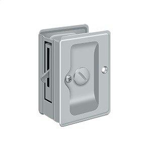 "HD Pocket Lock, Adjustable, 3 1/4""x 2 1/4"" Privacy - Brushed Chrome"