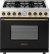 Additional Range DECO 36'' Classic Black dual color, Bronze 6 gas, gas oven