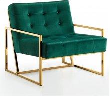 """Pierre Velvet Accent Chair - 32""""L x 28""""D x 27.5""""H"""