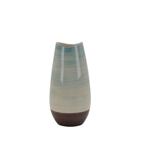"""Ceramic Vase 10.75"""", Multi"""