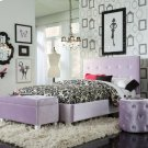 Pink Velvet Ottoman Product Image