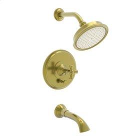 Satin Brass - PVD Balanced Pressure Tub & Shower Trim Set