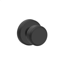 Bowery Knob with Greyson trim Hall & Closet Lock - Matte Black