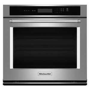 "Kitchenaid27"" Single Wall Oven® with Even-Heat™ Thermal Bake/Broil - Stainless Steel"