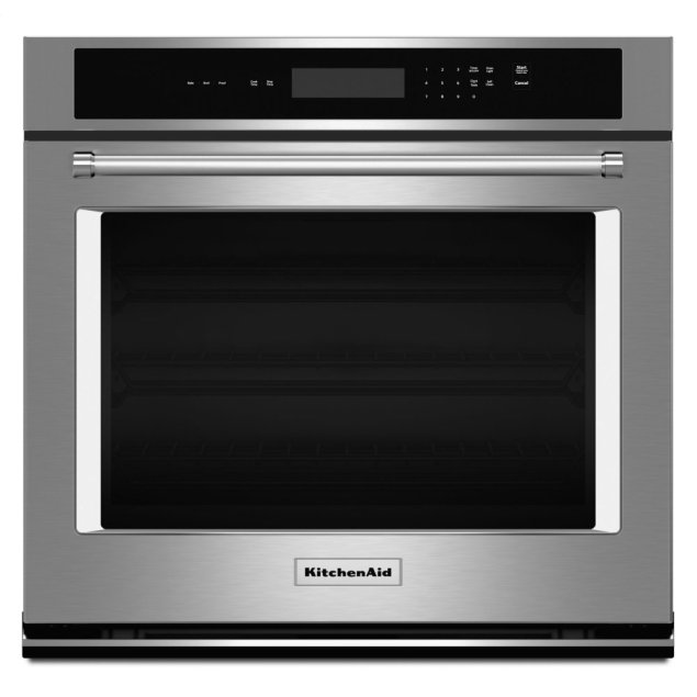 "KitchenAid 27"" Single Wall Oven® with Even-Heat™ Thermal Bake/Broil - Stainless Steel"