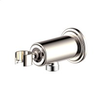 Hand Shower Wall Bracket With Outlet Darby Series 15 Polished Nickel