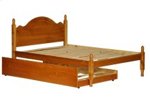Reston Mahogany Full Panel Bed w/ Trundle