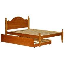 Reston Mahogany Full Panel Bed w/ Trundle