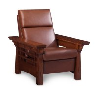 MaKayla Recliner, Leather Cushion Seat Product Image