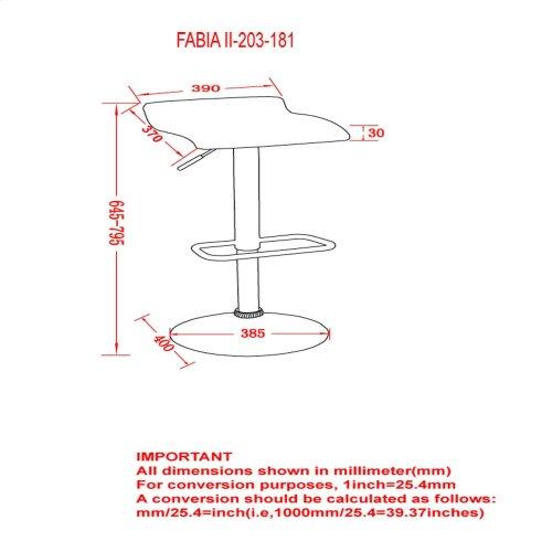 Fabia II Gas Lift Stool in Black, 2pk