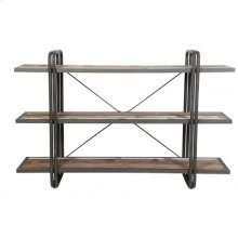Wall rack 3 layers 160x45x106 cm POTOSI wood