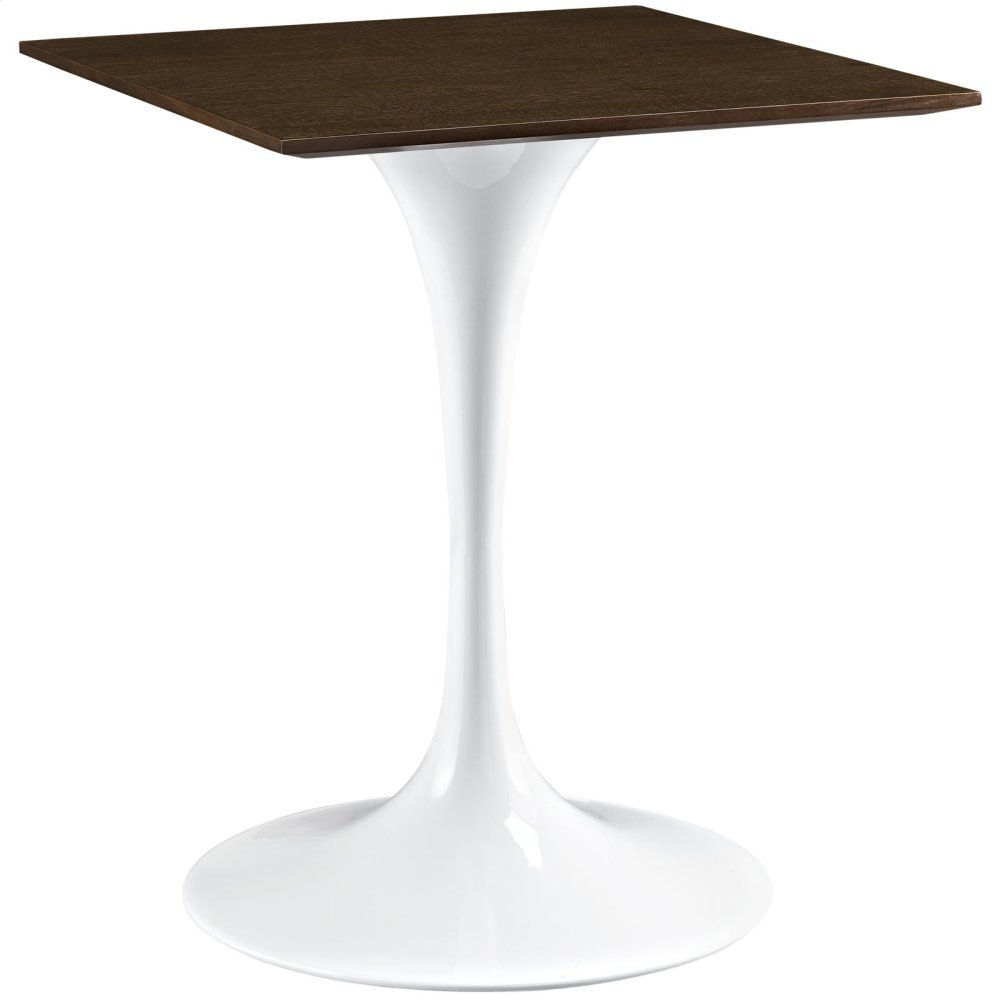 "Lippa 24"" Wood Dining Table in Walnut"