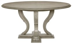 Marquesa Round Dining Table in Marquesa Gray Cashmere (359)