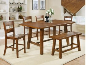 Lorenza Counter Height Table with 6 Stools