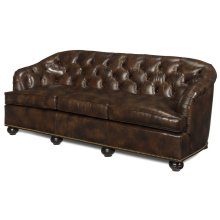 Leather Sofa with Tufted Back
