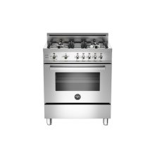 Stainless 30 4-Burner, Gas Oven LP