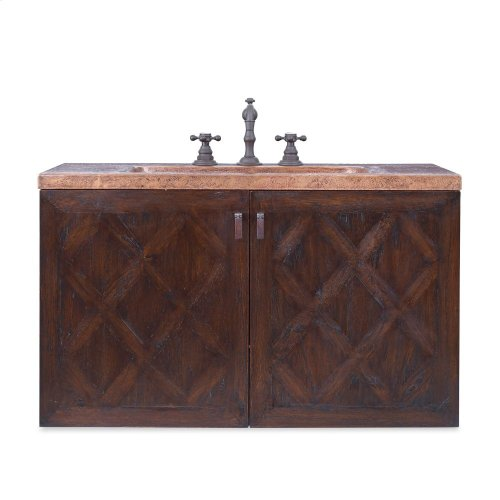 Cobre Wall Mounted Sink Chest