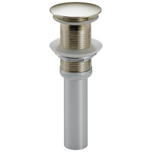 Polished Nickel Push Pop-Up Less Overflow Product Image