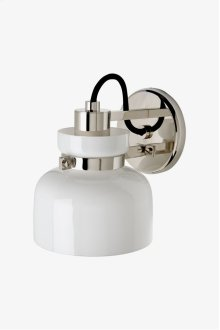 Helio Wall Mounted Single Arm Sconce with Glass Shade STYLE: HOLT02