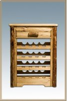 Glacier Country Log Wine Cabinet Product Image