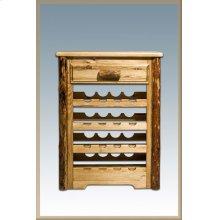 Glacier Country Log Wine Cabinet