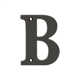 "4"" Residential Letter B - Oil-rubbed Bronze"