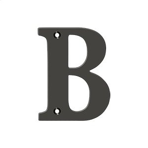 """4"""" Residential Letter B - Oil-rubbed Bronze Product Image"""
