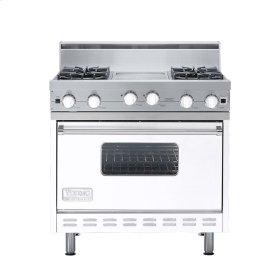 "White 36"" Open Burner Range - VGIC (36"" wide, four burners 12"" wide griddle/simmer plate)"