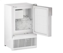 """Marine Series 14"""" Marine Crescent Ice Maker With White Solid Finish and Field Reversible (flange To Cabinet) Door Swing"""