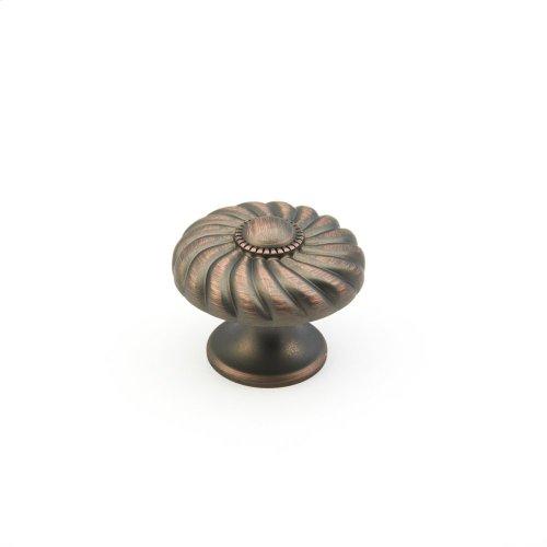 """Solid Brass, Casual Elegance, Round Knob, 1-3/8"""" diameter, Michelangelo Bronze finish"""