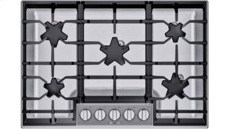 SGSP305TS ™ offers an impressive 30-inch gas cooktop with 5 raised pedestal Star™ burners, including a center-mounted power burner, and 54,000 BTUs of overall heat output. 30-Inch Masterpiece™ Pedestal Star™ Burner Gas Cooktop