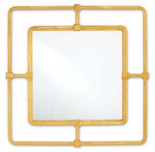 Metro Gold Square Mirror - 22.5h x 22.5w x 2d