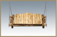Glacier Country Log Porch Swing