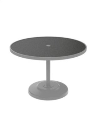 "Raduno 42"" Round KD HPL Pedestal Dining Umbrella Table"