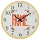 """""""Home"""" Wall Clock. Product Image"""